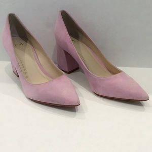 Marc Fisher Shoes - Marc Fisher Pink Suede Caitlin Pump
